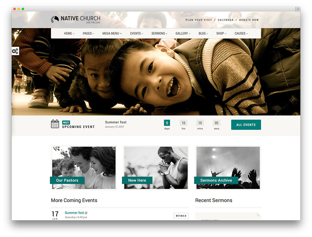 nativechurch - church and event theme