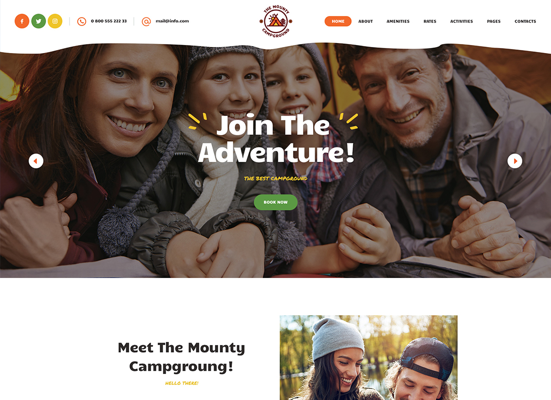 The Mounty - Thème WordPress pour camping et camping