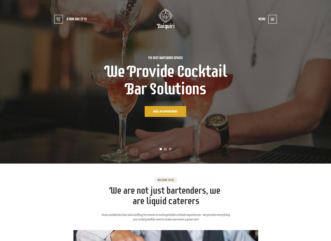 Daiquiri - Barman Services & Catering Thème WordPress