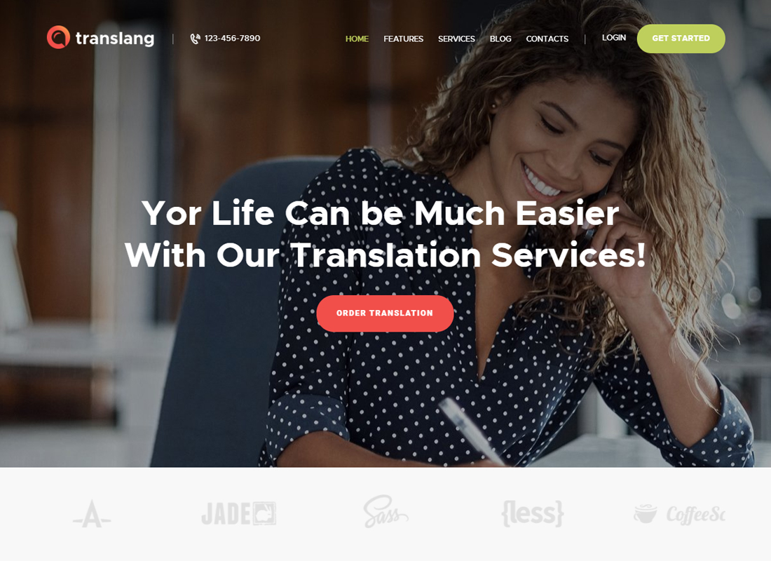 Translang - Services de traduction et cours de langues Thème WordPress
