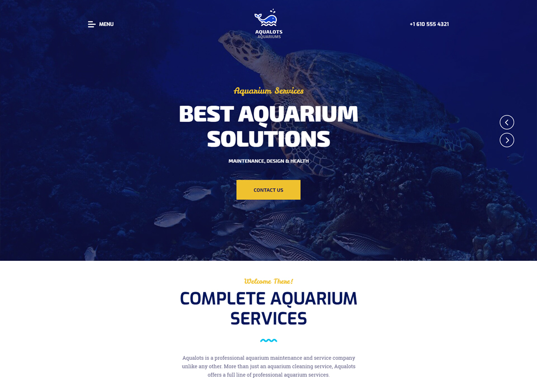 Aqualots - Aquarium Services Thème WordPress