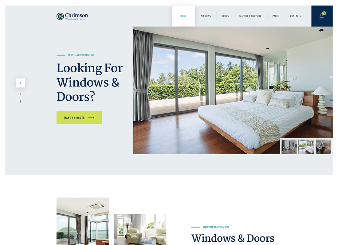 Thème WordPress pour Chrimson - Windows & Doors Services