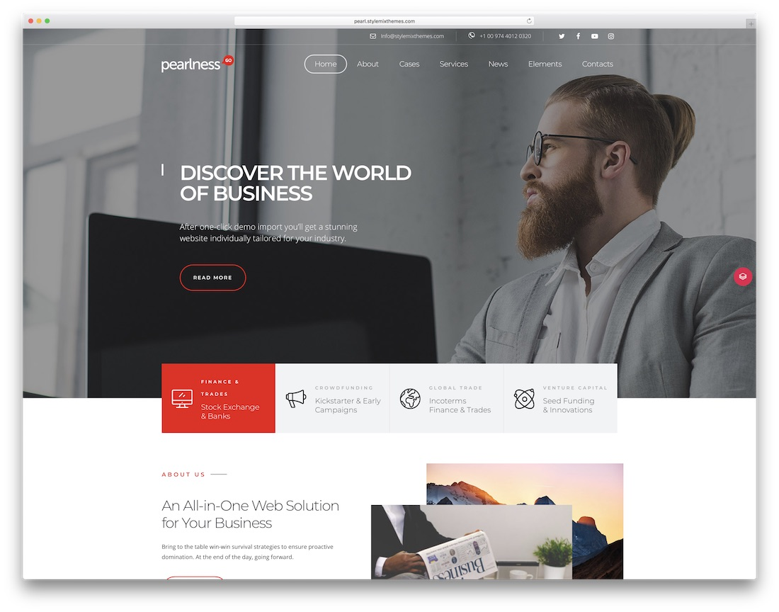 pearl multipurpose clean wordpress theme