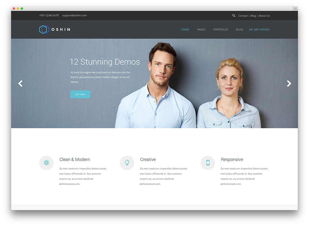 oshine - clean corporate theme