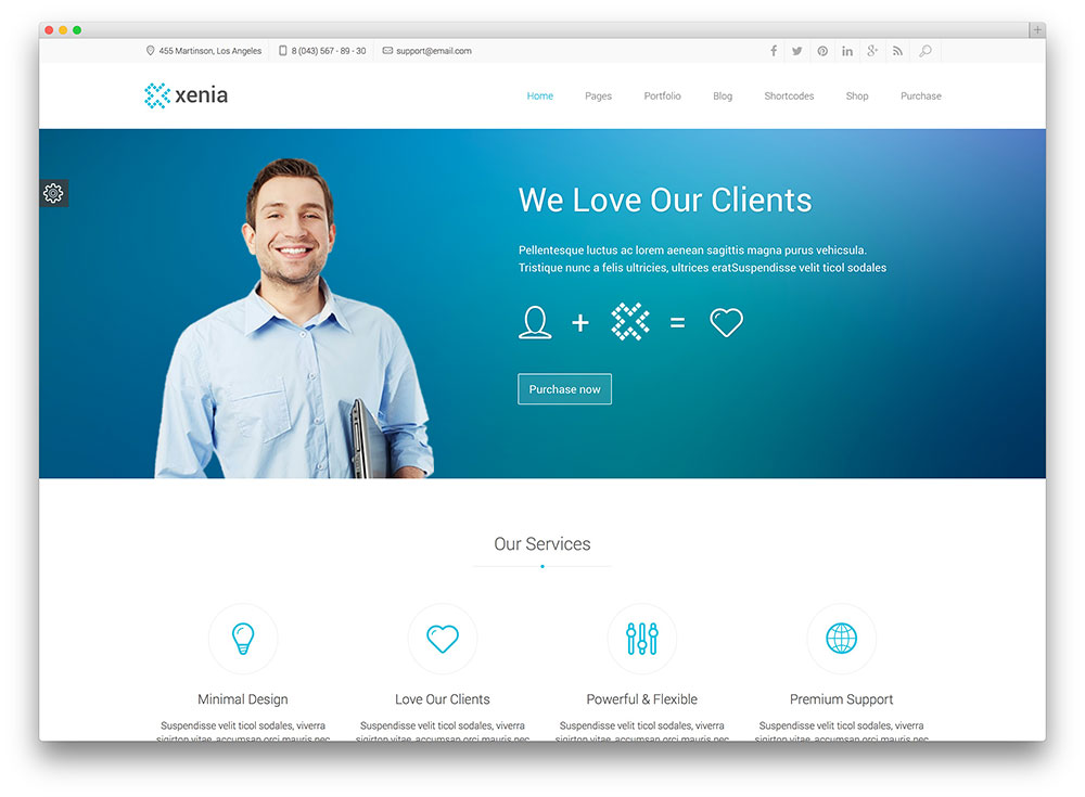 xenia corporate theme