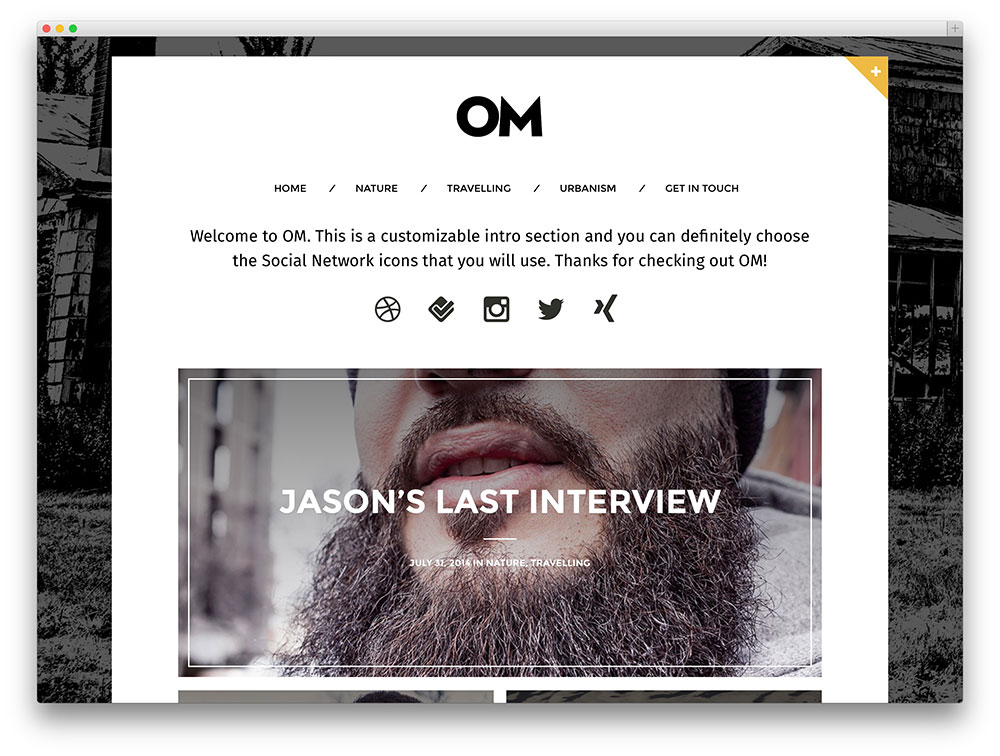 om blogging template