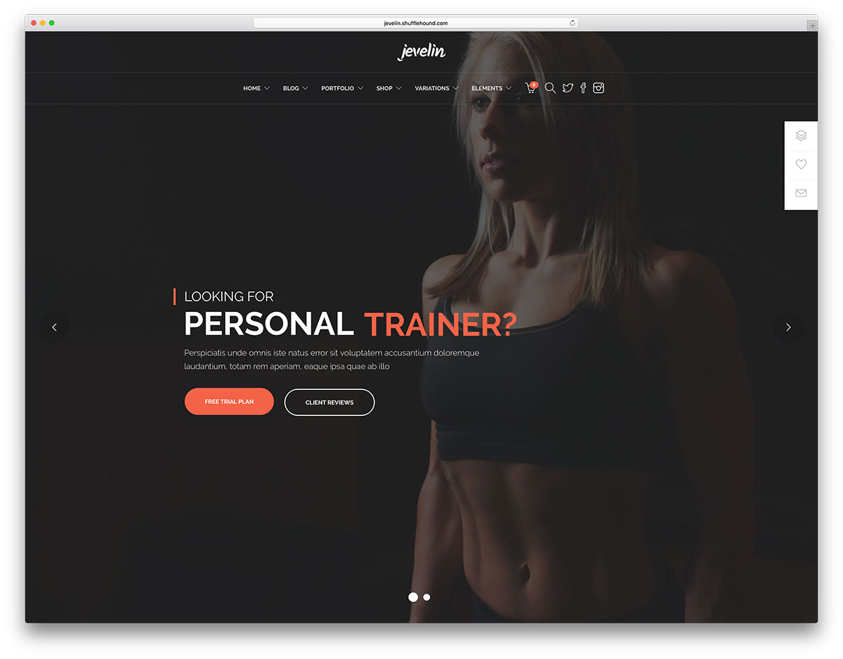 "jeveling-personal-trainer-wordpress-theme ""width ="" 1200 ""height ="" 938 ""data-lazy-srcset ="" https://cdn.colorlib.com/wp/wp-content/uploads/sites/2/jeveling -personal-trainer-wordpress-theme.jpg 1200w, https://cdn.colorlib.com/wp/wp-content/uploads/sites/2/jeveling-personal-trainer-wordpress-theme-300x235.jpg 300w, https : //cdn.colorlib.com/wp/wp-content/uploads/sites/2/jeveling-personal-trainer-wordpress-theme-768x600.jpg 768w, https://cdn.colorlib.com/wp/wp- content / uploads / sites / 2 / jeveling-personal-trainer-wordpress-theme-1024x800.jpg 1024w ""data-lazy-tailles ="" (largeur max: 1200px) 100vw, 1200px ""data-lazy-src ="" https: //cdn.colorlib.com/wp/wp-content/uploads/sites/2/jeveling-personal-trainer-wordpress-theme.jpg?is-pending-load=1 ""srcset ="" data: image / gif; base64 , R0lGODlhAQABAIAAAAAAAAP /// yH5BAEAAAAALAAAAAABAAEAAAIBRAA7 ""/></p> <p><noscript><img class="