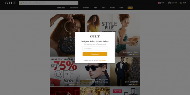 popup ecommerce mobile