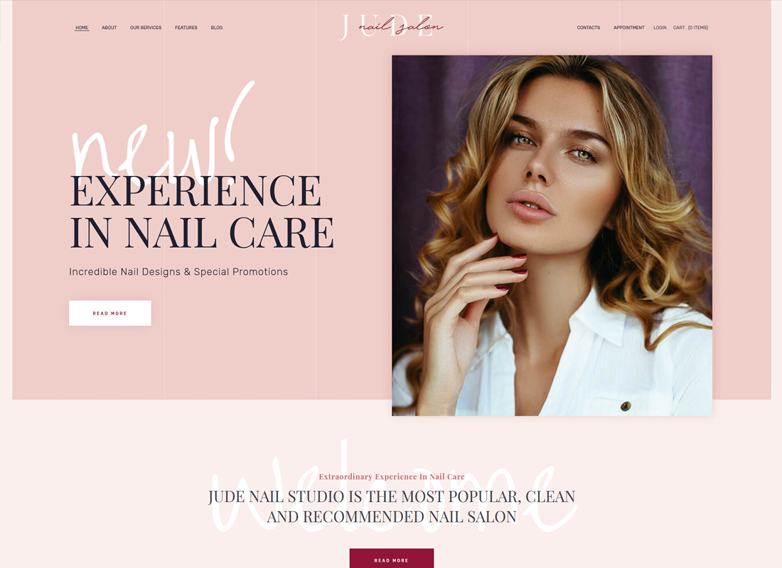 Jude | Nail Bar & Beauty Salon Thème WordPress