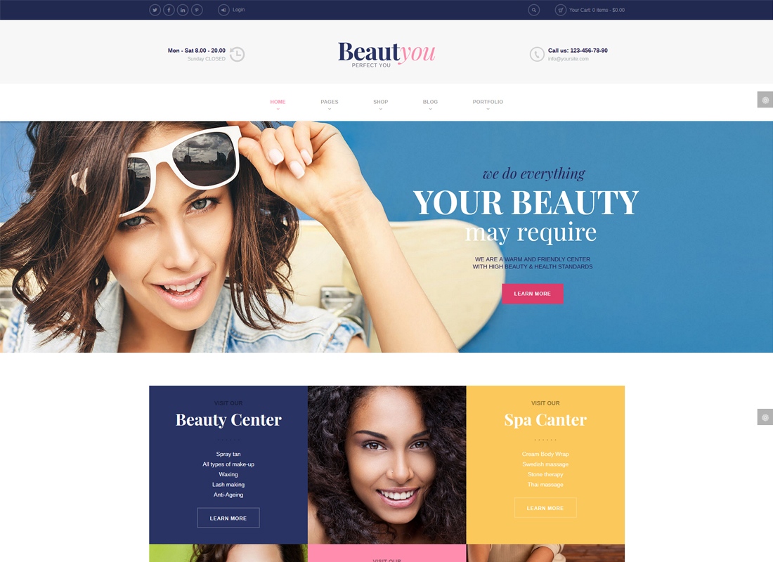 BeautYou | Beauty, Hair & Spa Salon Thème WordPress