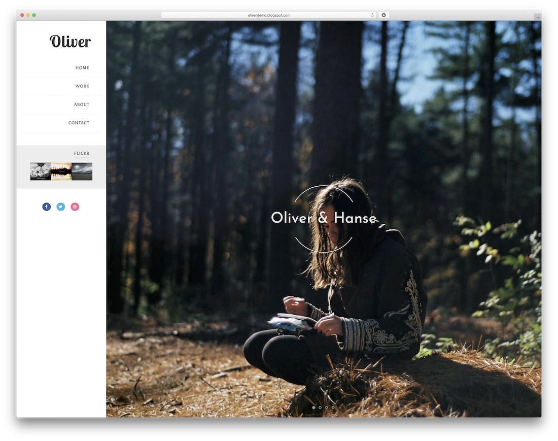 oliver free blogger template