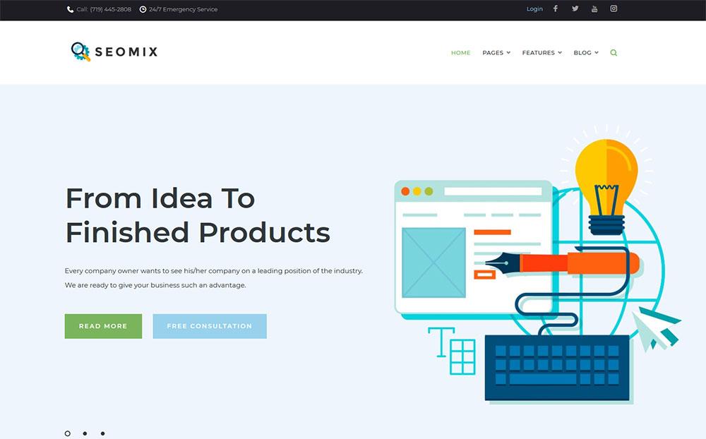 SEOmix - Thème WordPress pour société de référencement