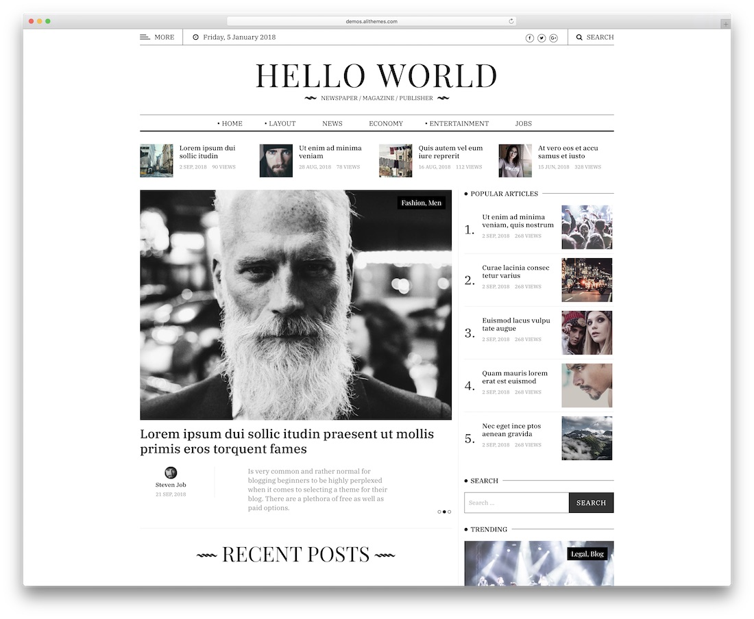 hewo news site template