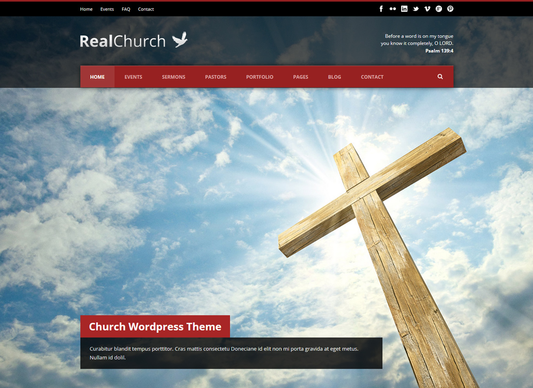 Real Church - Thème Responsive Retina Ready