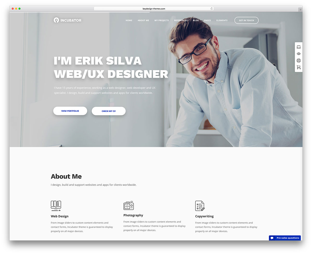 33 meilleurs th u00e8mes wordpress vcard  u0026 resume 2019