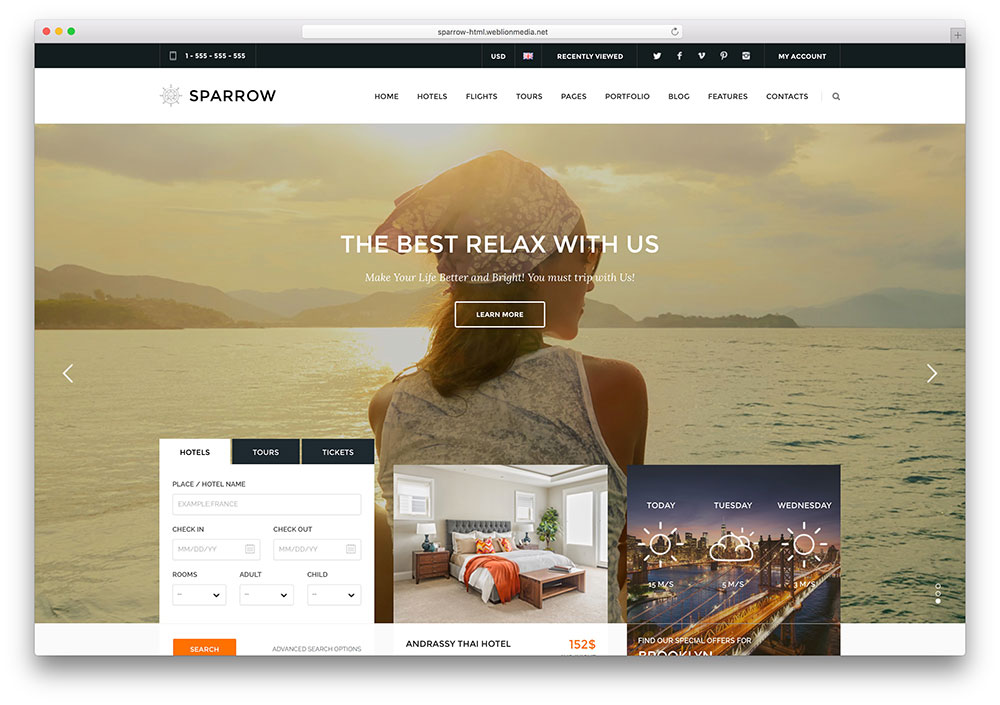 sparow-travel-booking-html5-website-template