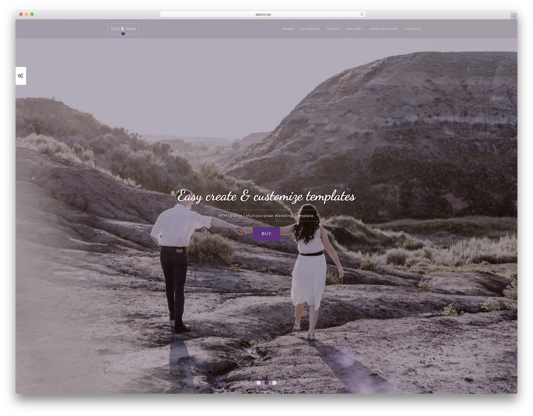 weddingtime html template de site de mariage