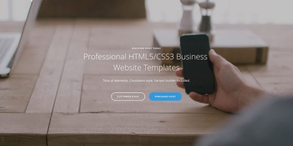 21 modèles de sites Web professionnels (HTML5 et WordPress) 2019