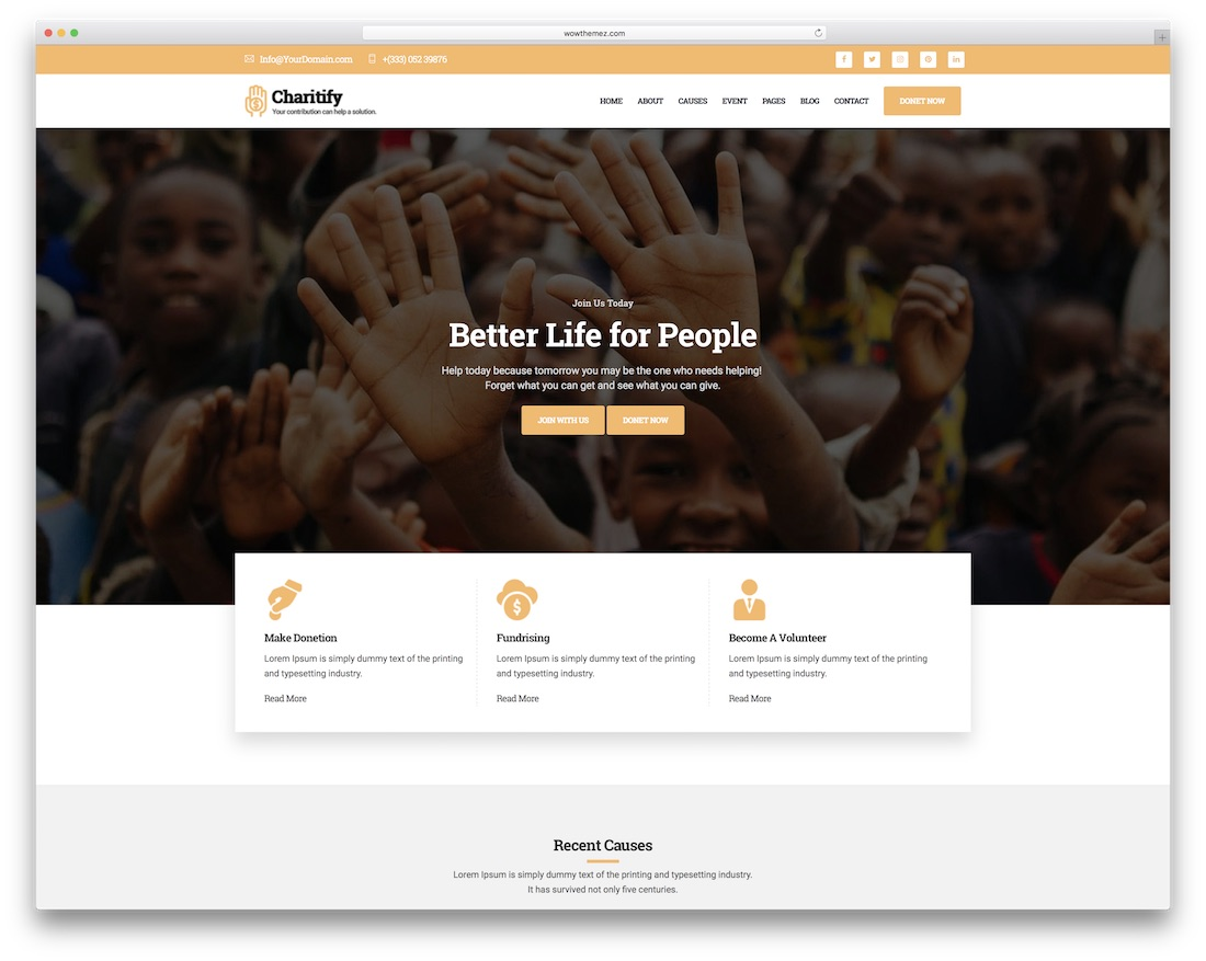 charitify site template