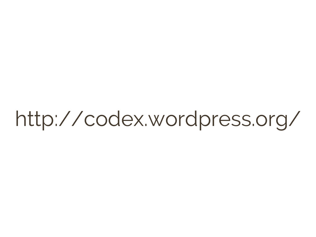 WordPress Codex
