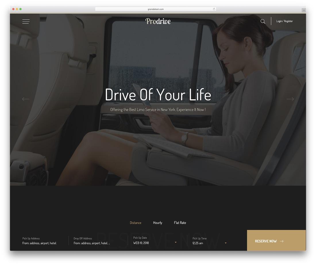 modèle de site Web automobile prodrive