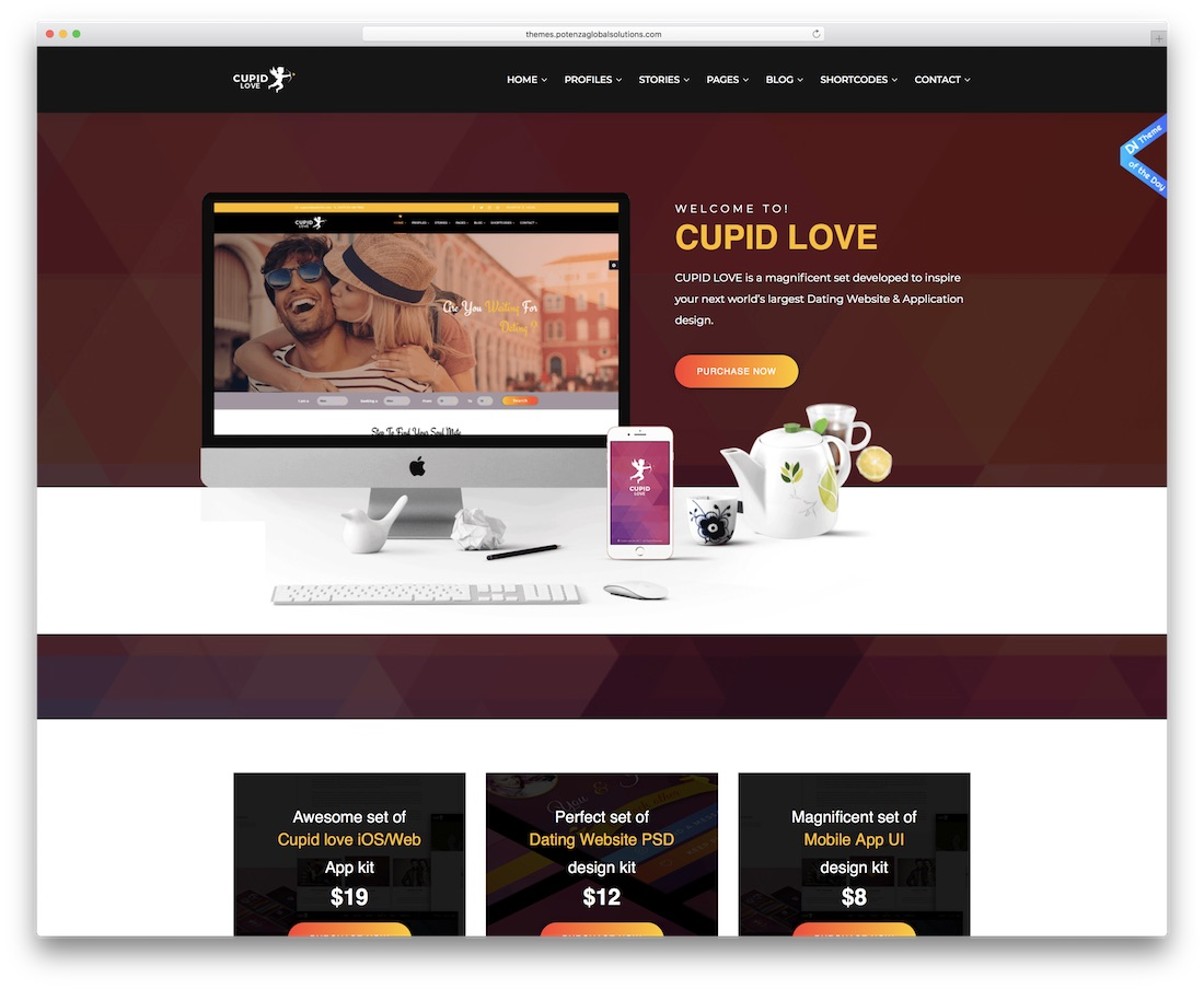 cupidon love dating site template html