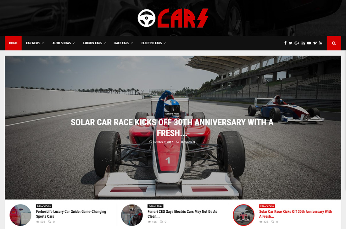 pennews cars magazine thèmes wordpress