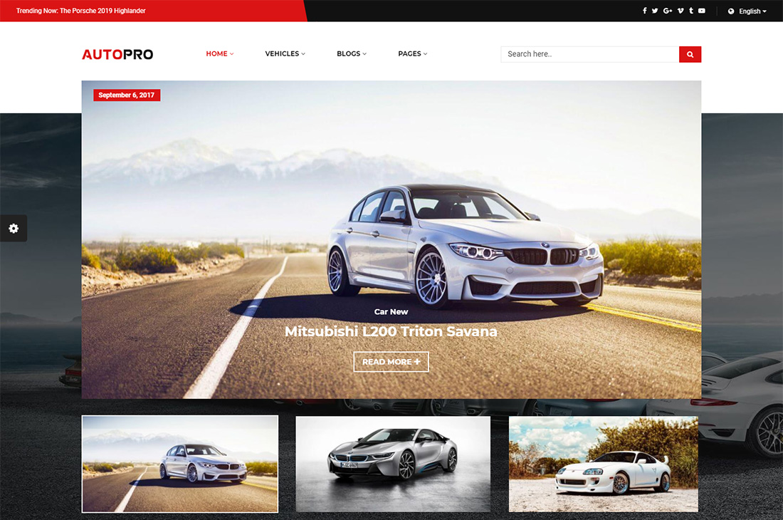 autopro cars magazine thèmes wordpress