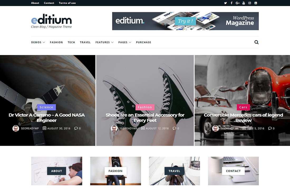 editium cars magazine thèmes wordpress