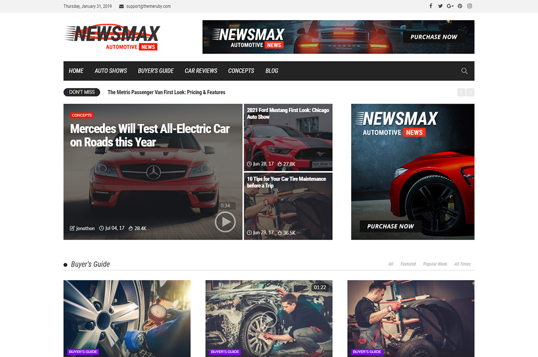 newsmax cars magazine thèmes wordpress