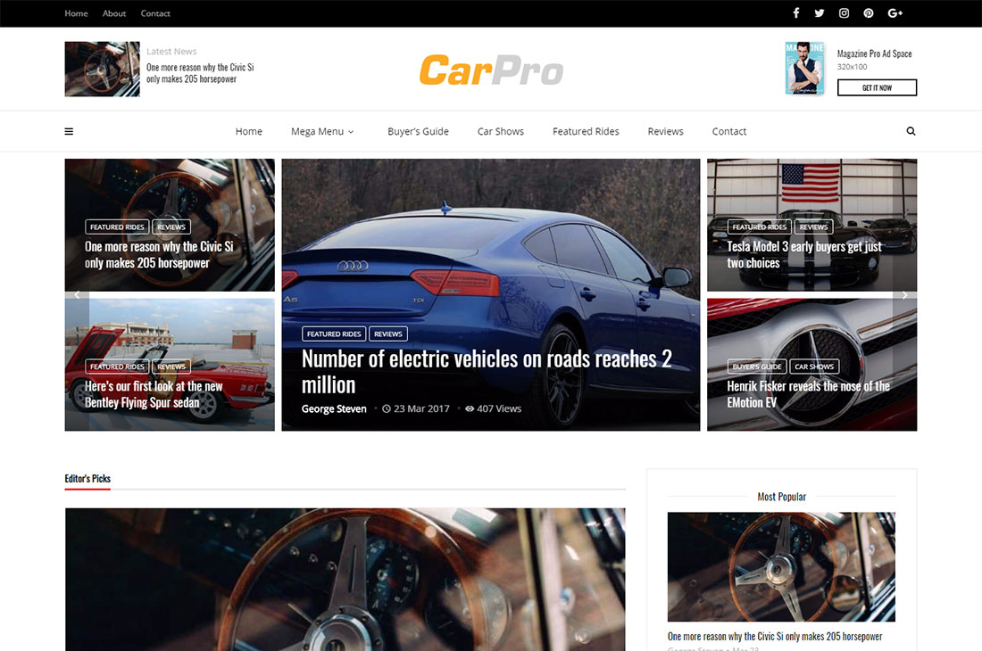 magplus cars magazine thèmes wordpress