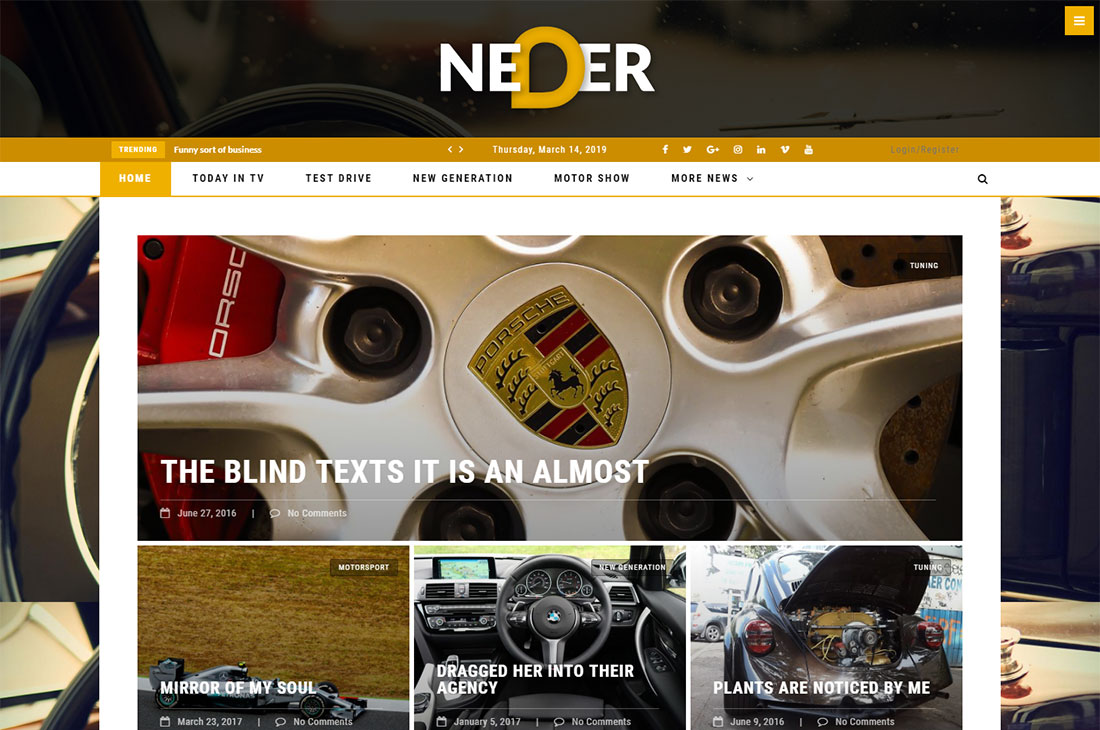 neder cars magazine thèmes wordpress