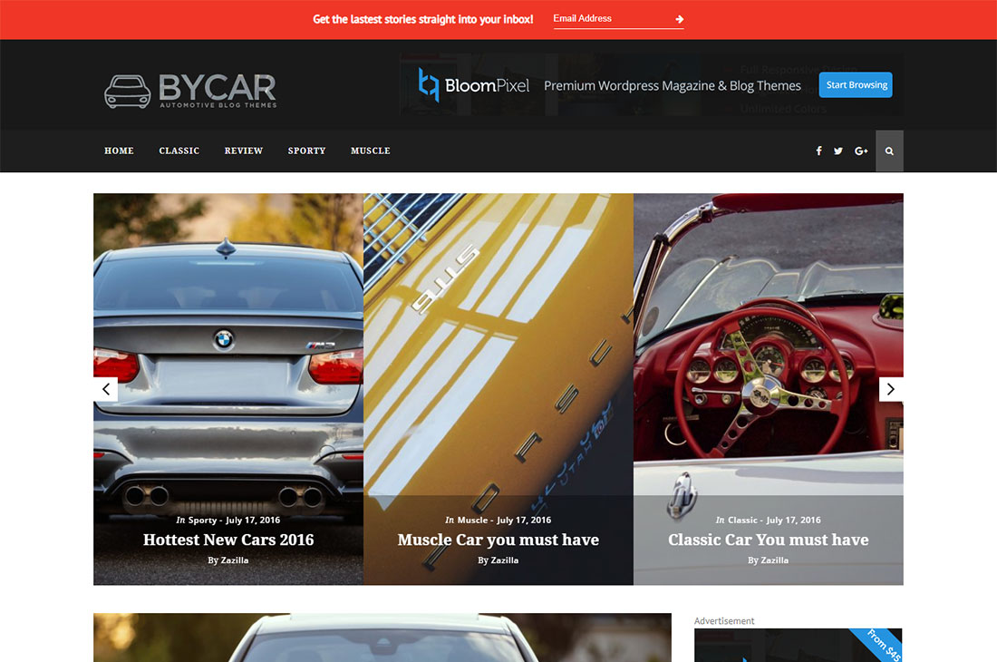 thèmes de blog by magazine cars wordpress