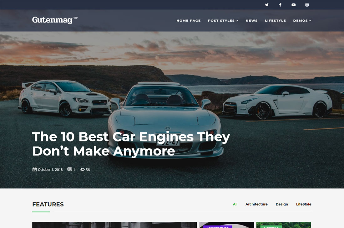 gutenmag cars magazine thèmes wordpress