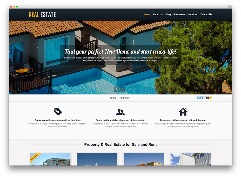 TM realestate WordPress theme