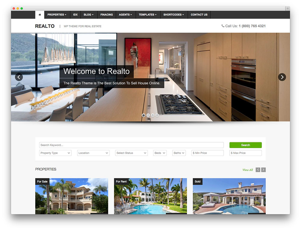 realto real estate template