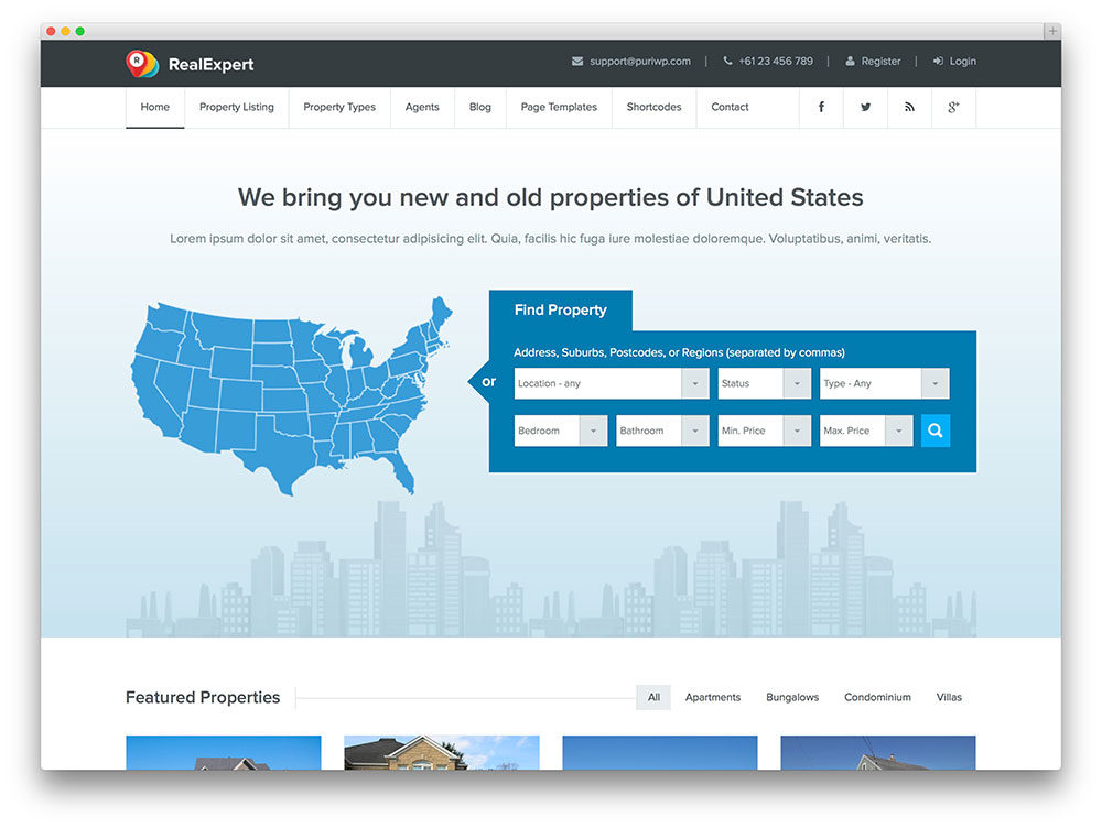 realexpert realtor wordpress theme