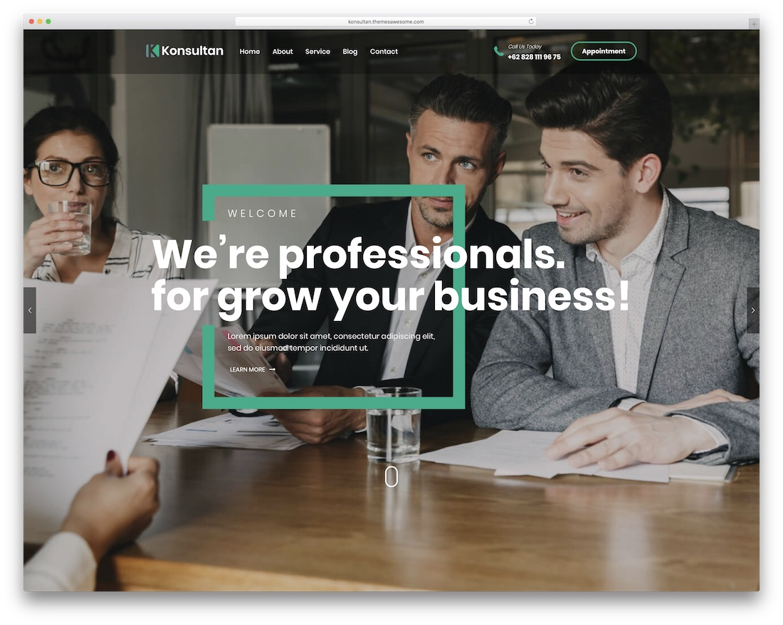 konsultan consulting wordpress theme