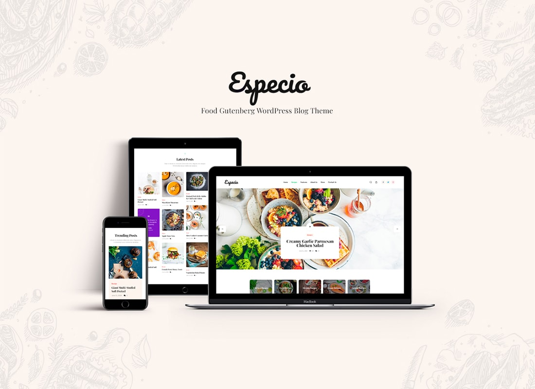 Especio | Gutenberg Food Blog Thème WordPress