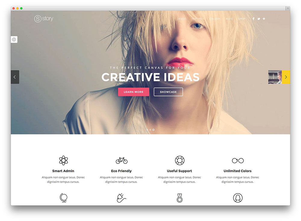 story creative multipurpose theme