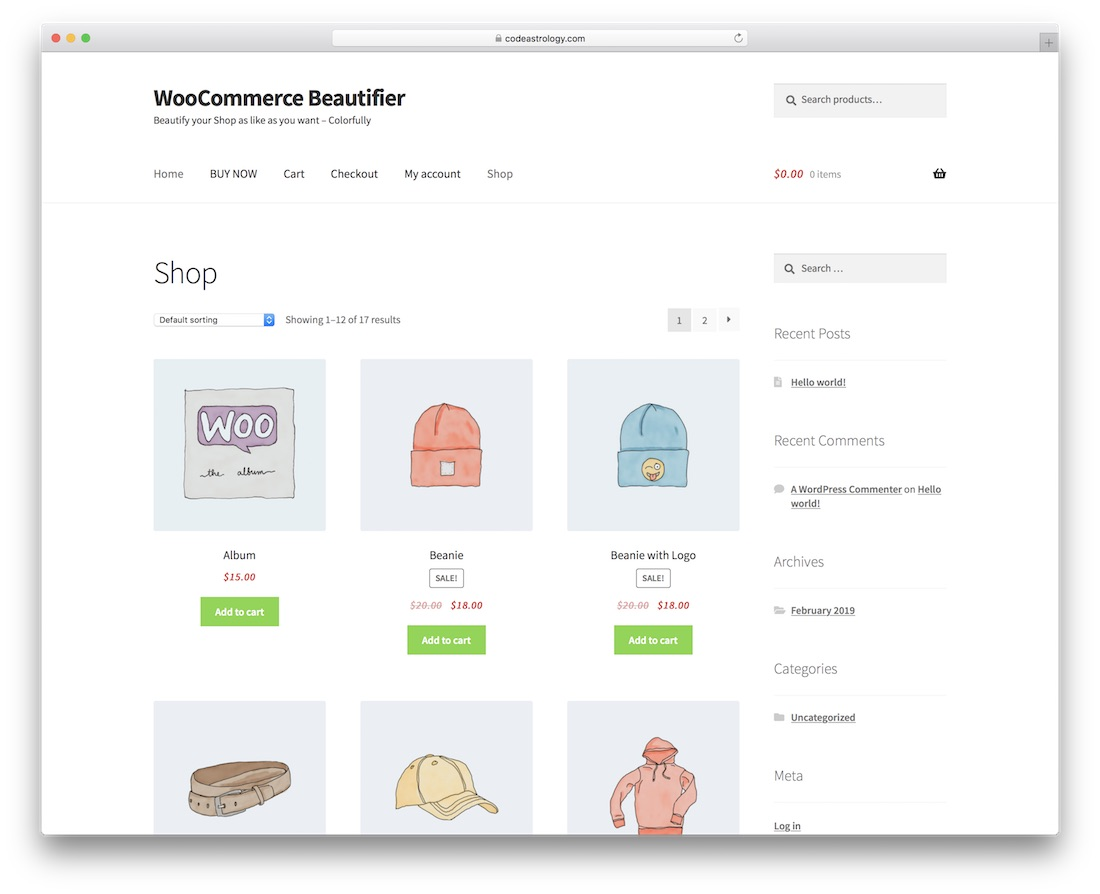 woocommerce beautifier