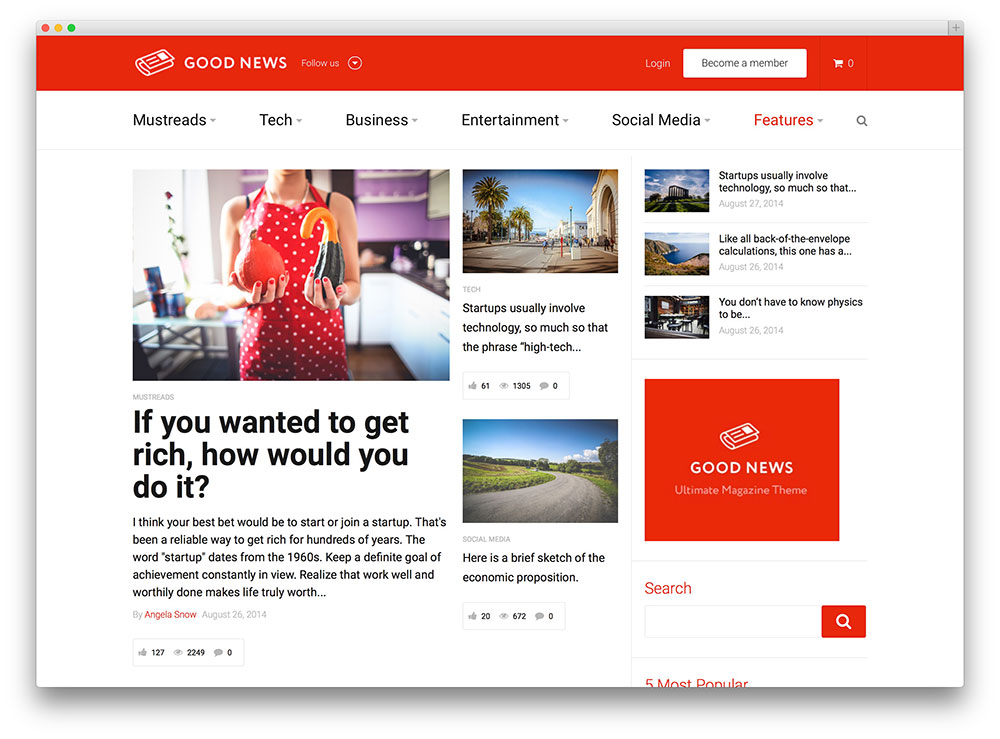 good news - clean magazine theme