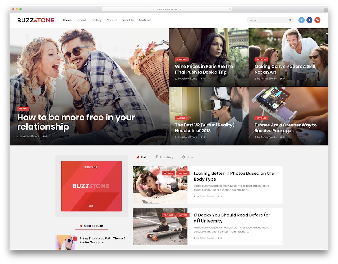buzz stone wordpress newspaper theme