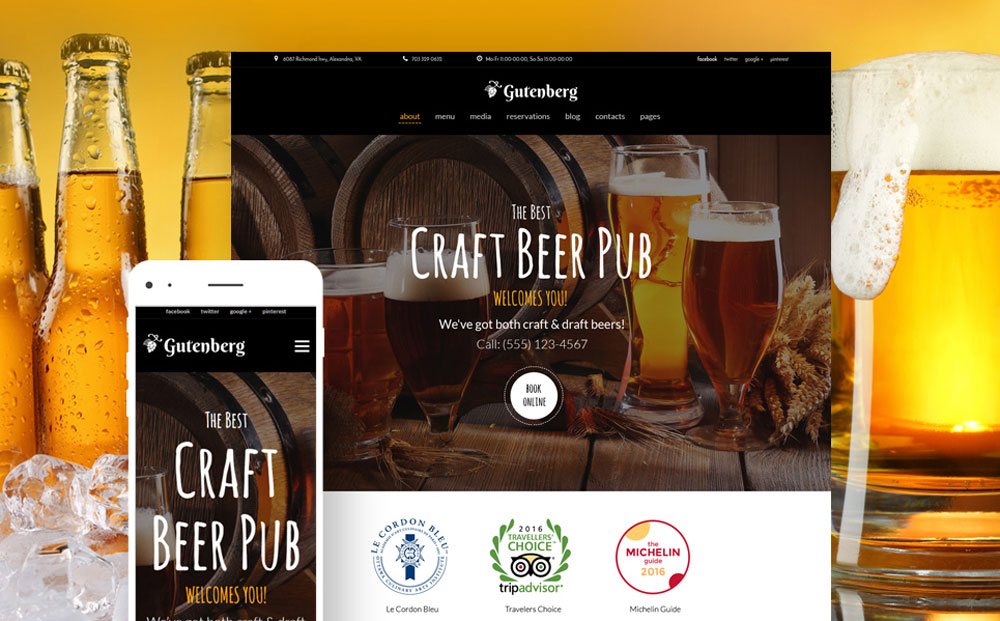 Beer Pub and Brewery Thème WordPress