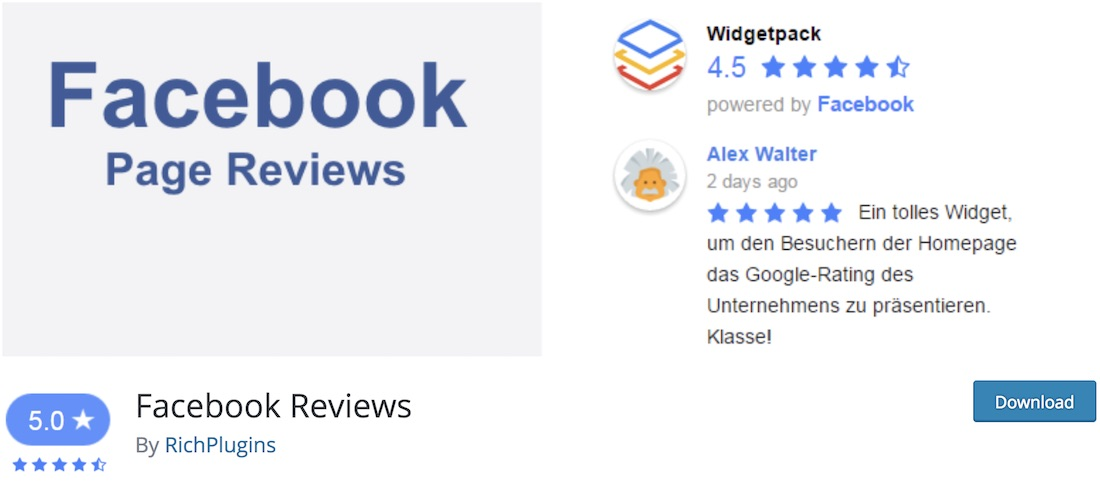 fb critiques widget wordpress plugin