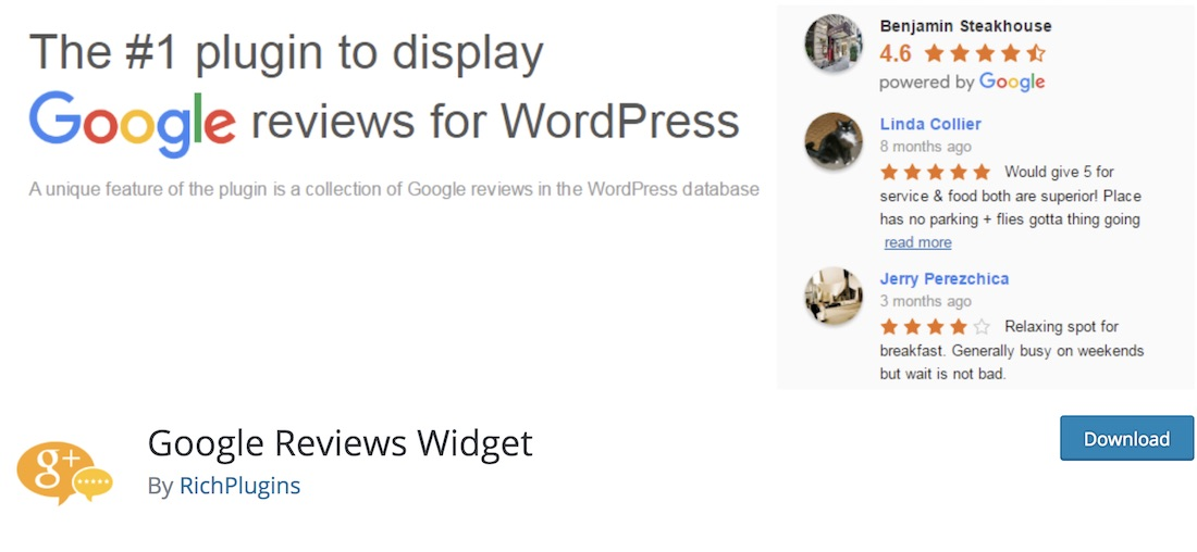 google reviews widget wordpress plugin
