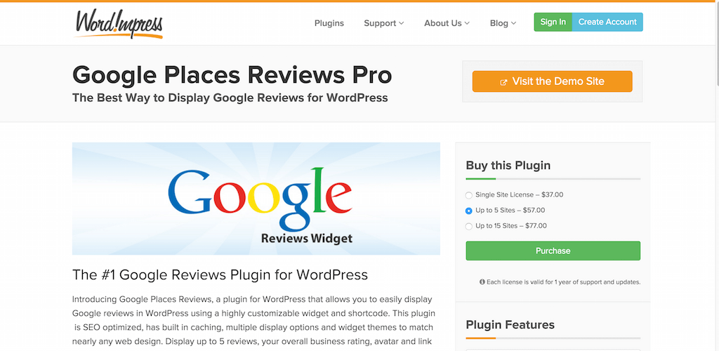 Google Avis Plugin pour WordPress