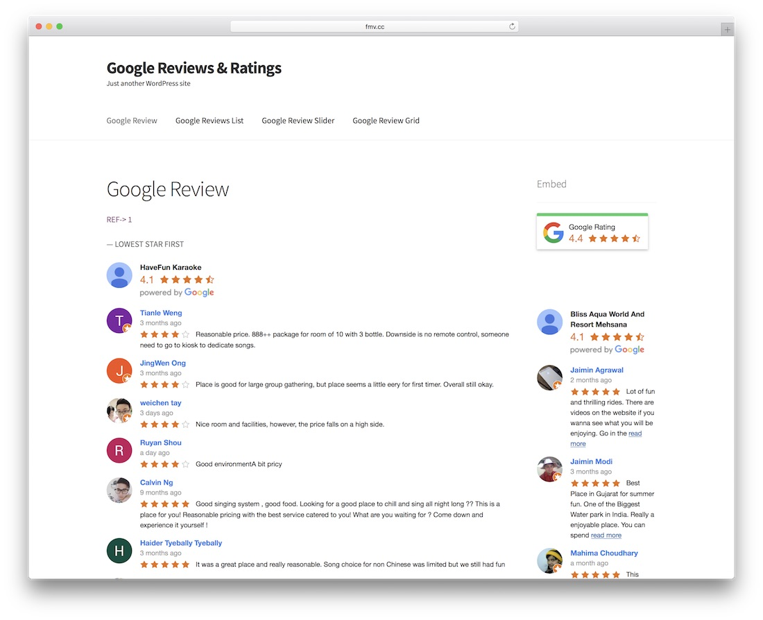 wordpress google reviews évaluations plugin