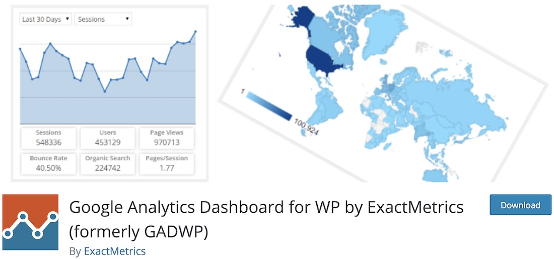 tableau de bord google analytics pour wordpress