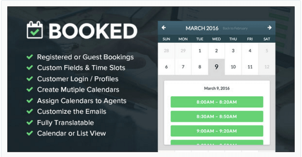 """Booked"""